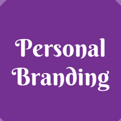 graphic image with text: personal branding